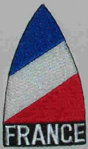 France Embroidered Flag Patch, style 02.